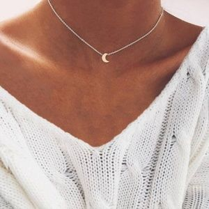 Jewelry - Moon Choker Necklace (Silver)